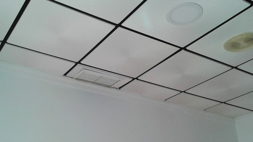 Falso techo registrable fabulous ejemplo montaje falso - Techos de escayola ...