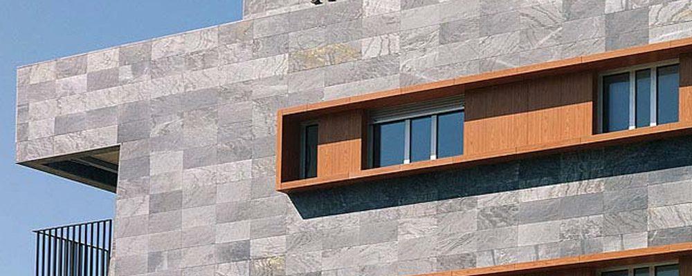 Instaladores de fachada ventilada de piedra natural - Fachada de piedra natural ...