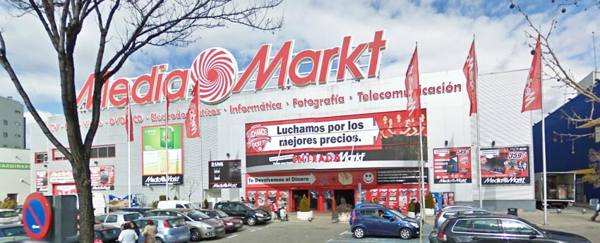 Centro comercial Mediamarkt en San Sebastián de los Reyes